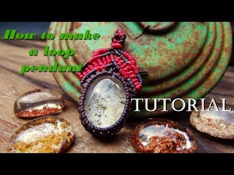 How to make a macrame knot leaf loop with abalone shell - YouTube