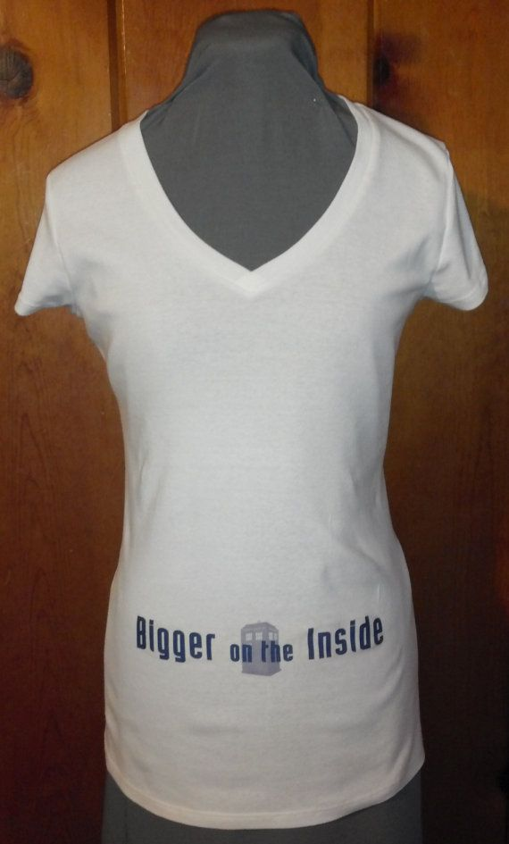 For next time Doctor Who Shirt Bigger on the Inside by MaggiesCreationsLLC, $21.00