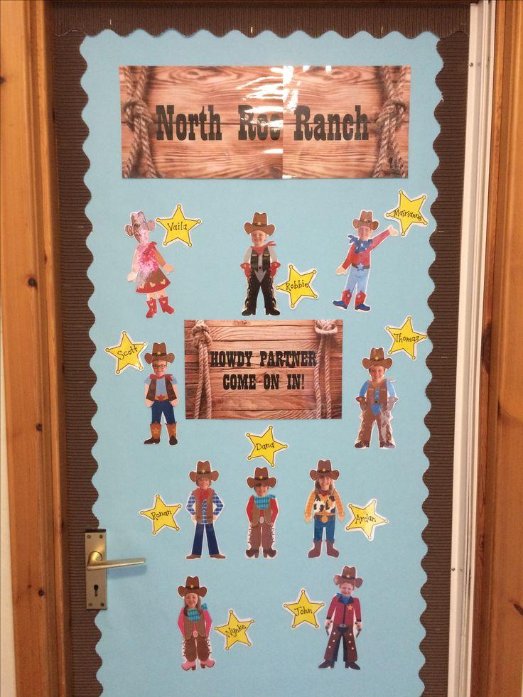 Wild West Cowboys Ranch door display/bulletin board