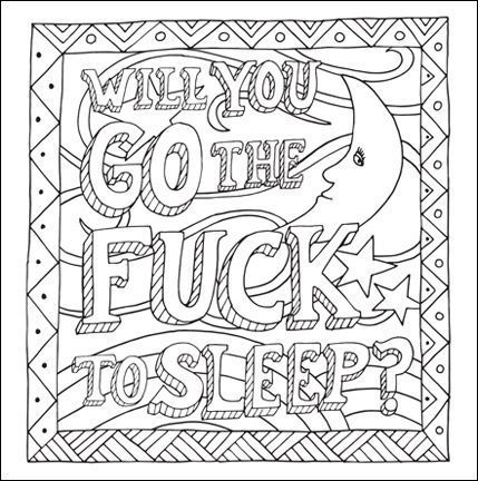 free curse word coloring page for adults
