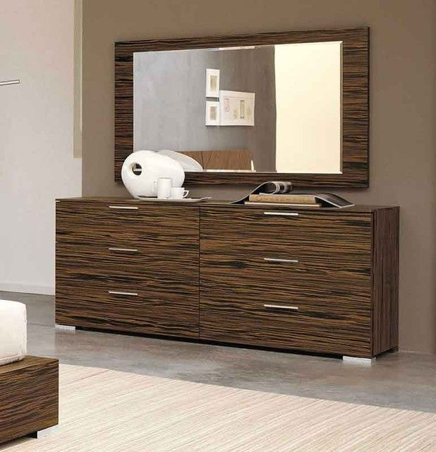 Delightful Modern Bedroom Dresser Are Mirrors Above And There Are Six Drawers For  Storage