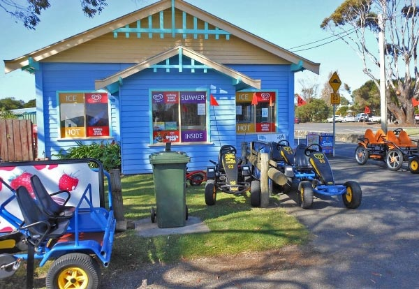 Pedal Buggies Tasmania: hire from the Beach Hut kiosk on the foreshore in Ulverstone.
