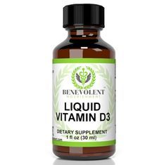 Vitamin D3 Liquid Drops. High Potency 5000 IU as Cholecalciferol Per Serving. Absorb Fast to Best Boost Immune System, Increase Energy & Help with D 3 Vitamins Deficiency.