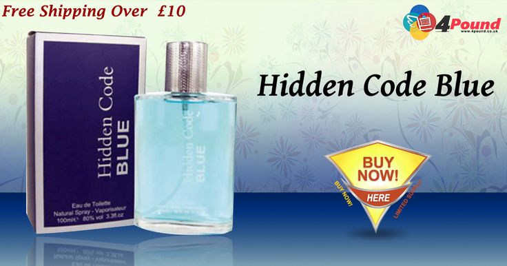 #Hidden_Code_Blue_Perfume at Low cost 4Pound.co.uk Pick your Favorite now. Shop Now : http://www.4pound.co.uk/hidden-code-blue