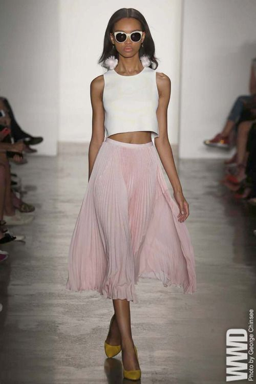 Timo Weiland RTW Spring 2015 Now that their party-girl customers are growing up, Timo Weiland's design trio — Weiland, Alan Eckstein and Donna Kang — are embracing a more mature approach. For More For...