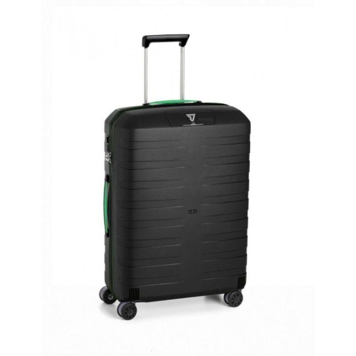 RONCATO BOX Trolley Medio 4 Ruote Nero/Verde