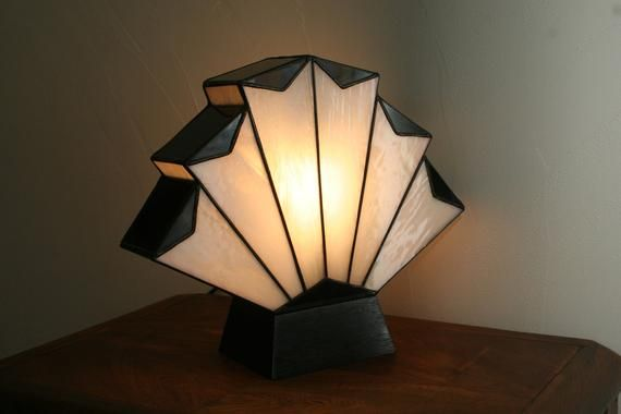 Art Deco Lamp Tiffany Lamp Tiffany Stained Glass Flabellum