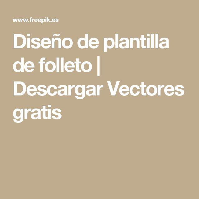 Diseño de plantilla de folleto | Descargar Vectores gratis