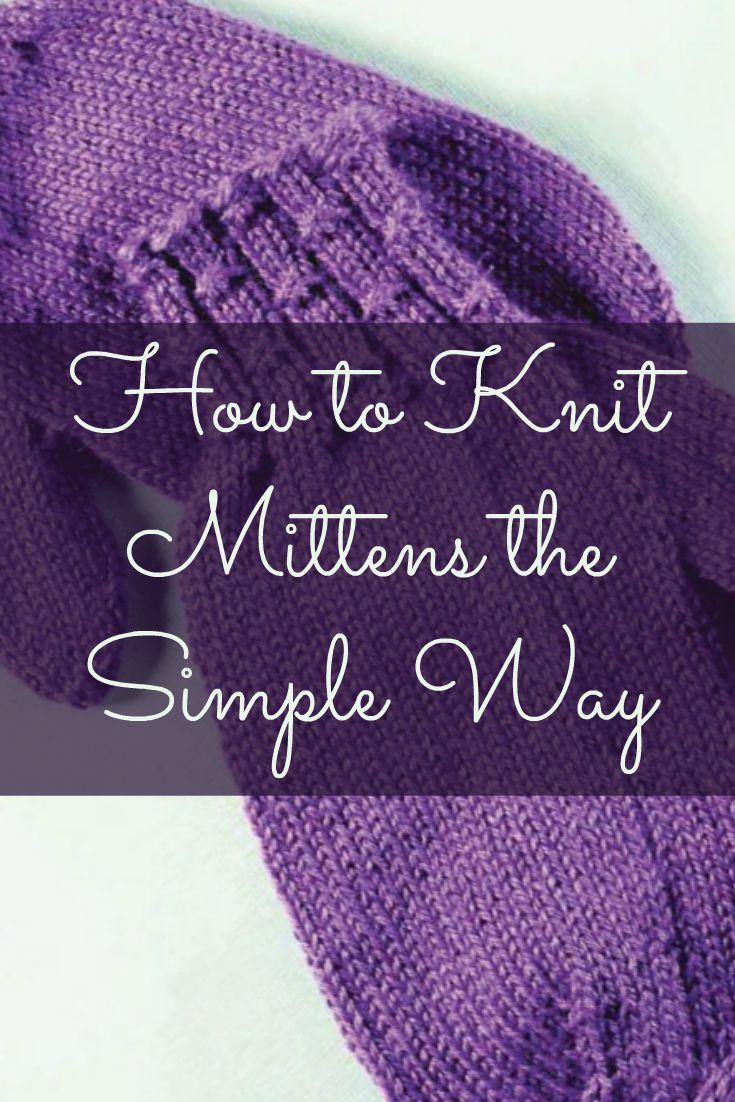 Unique Mittens Knitting Pattern Easy Elaboration - Blanket Knitting ...