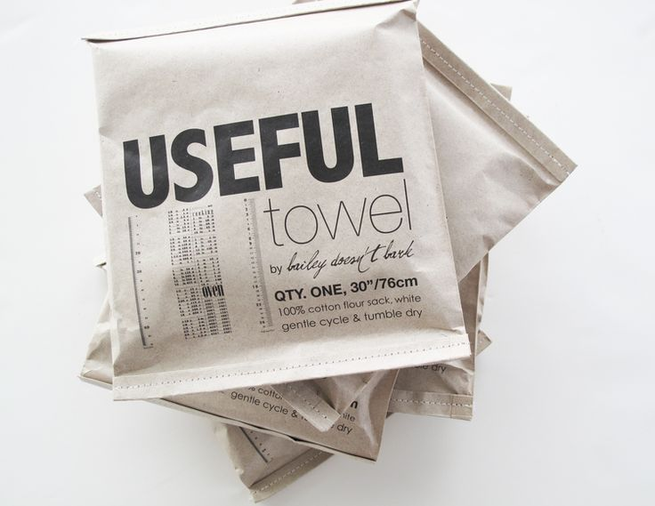 Everyone needs a useful towel #packaging PD