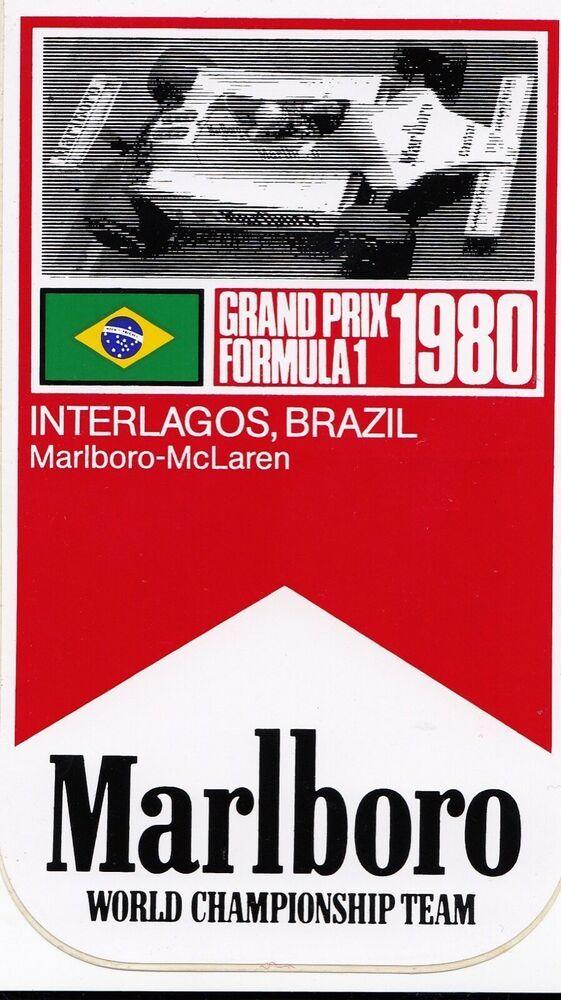 ORIGINAL MARLBORO McLAREN F1 BRAZILIAN GP INTERLAGOS 1980 F1 PERIOD