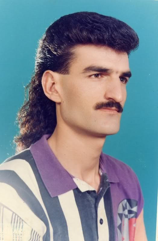 80s top men mullet haircut fashion 80s party