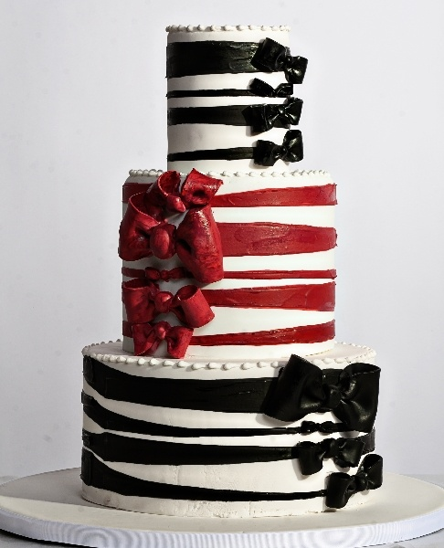 Red And Black Wedding Cakes Ideas: Black And Red Tie Event