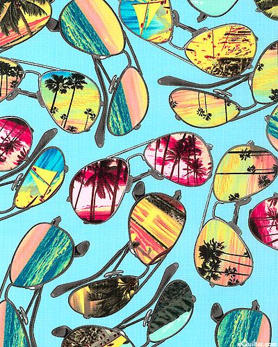 Island Reflections Fabric