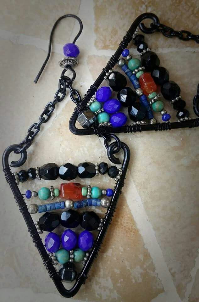 Earrings ethnic wire by albascuracreations