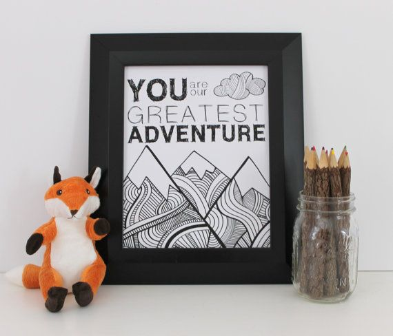 You Are Our Greatest Adventure Nursery Digital by StopGrowingUp