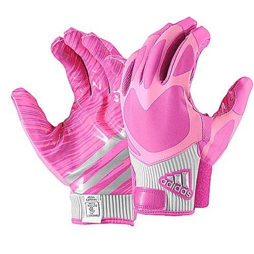 Men's football gloves in pink