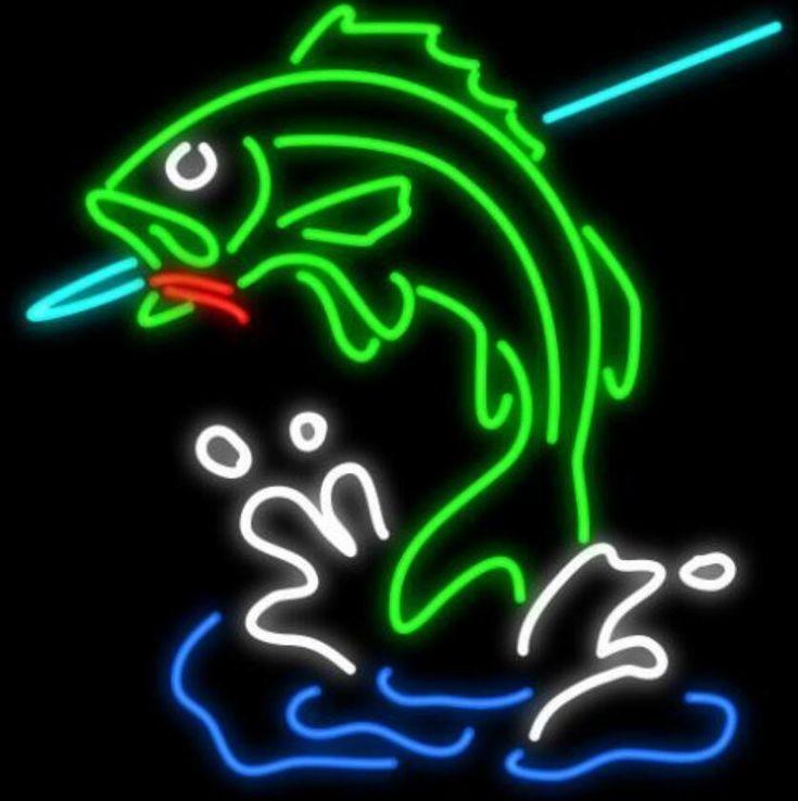 Custom Fish Glass Neon Light Sign Beer Bar in 2020