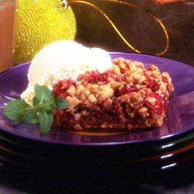 Cranberry Caramel Crisp