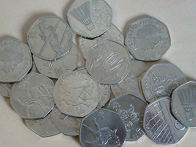 Various #olympics 50p #coins coin hunt judo goalball shooting #tennis wrestling,  View more on the LINK: http://www.zeppy.io/product/gb/2/311558302597/