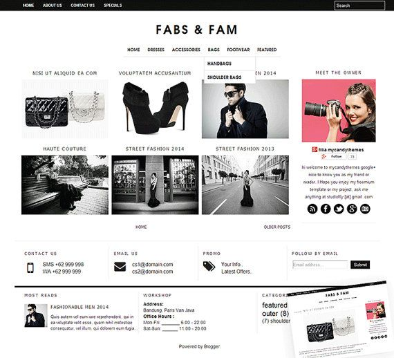 Blogger templates fashion fashion today the 27 best images about web design on pinterest font logo pronofoot35fo Choice Image