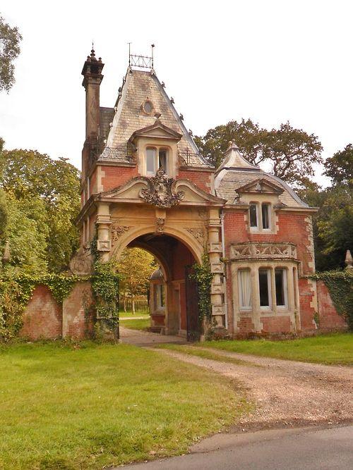 "vwcampervan-aldridge: "" Ornate Gatehouse, Lyndhurst, New Forest, Hampshire, England All Original Photography by http://vwcampervan-aldridge.tumblr.com """