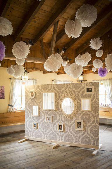 Bild 1: Hochzeitsdeko *BILDERWAND* für Gästefotos / Raumteiler / VINTAGE Hochzeit *1,85 x 2,5m*