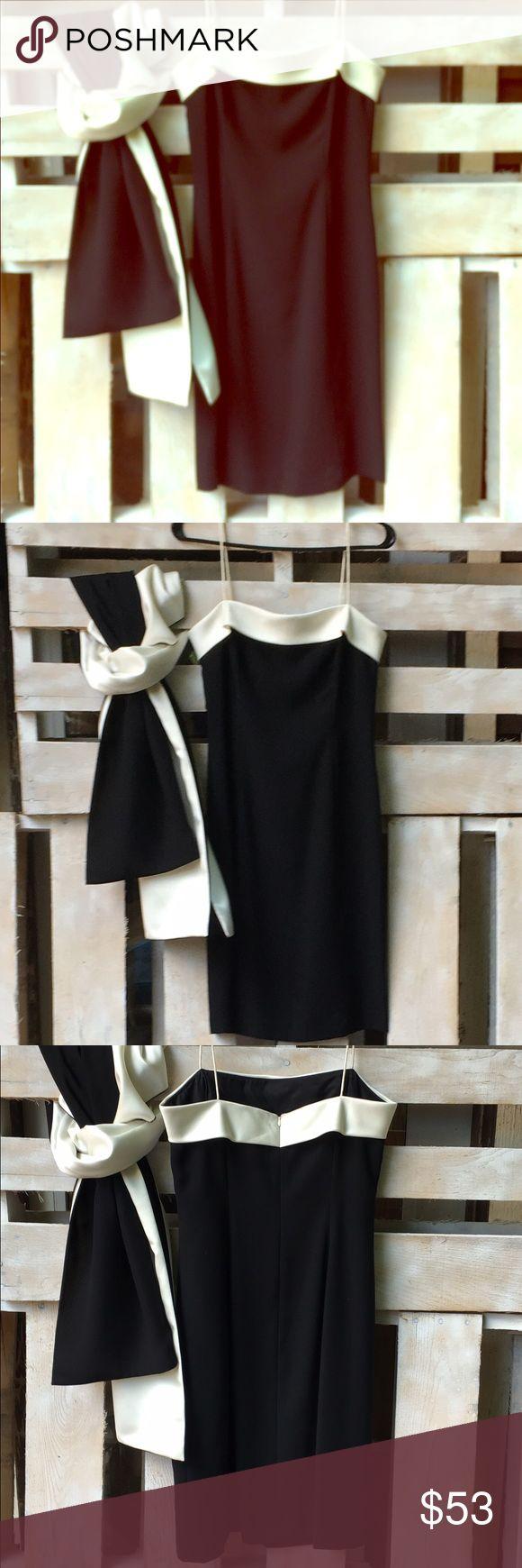 Ann Taylor black w cream cocktail dress & wrap Ann Taylor black w cream cocktail dress & wrap. Never worn. Ann Taylor Dresses Mini