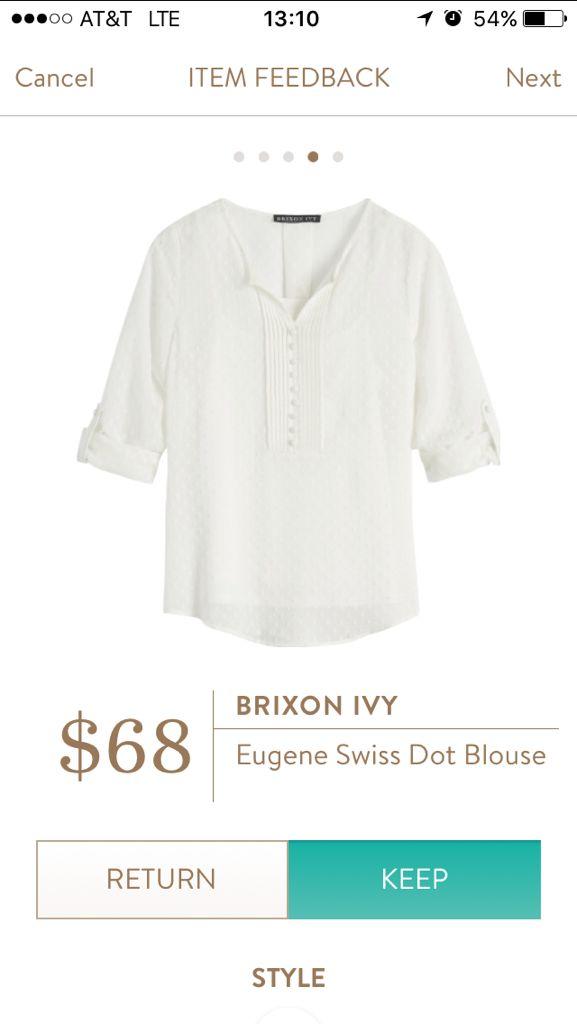 Stitch Fix Brixon Ivy Eugene Swiss Dot Blouse https://www.stitchfix.com/referral/8055861