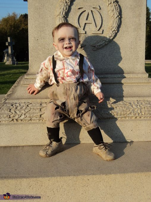 Cedar: This is my 12 month old son Jason dressed as a Zombie Baby. I got the idea while waiting for my husband at Magic Mountain Fright Fest, I was sitting...
