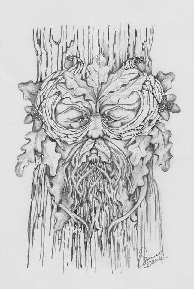 green man coloring pages - photo#2
