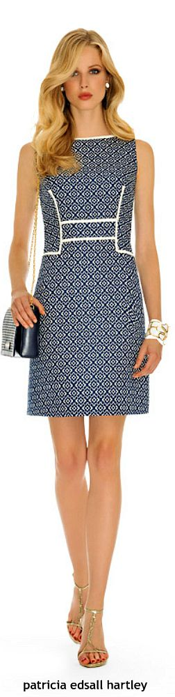 Luisa Spagnoli  #vestido #tubinho #debrum #estampa #azul