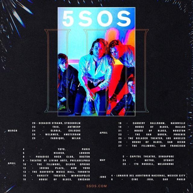 5SOS TOUR DATES!!!!