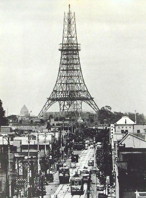 昭和スポット巡り on Twitter 昭和33年 東京タワー 完成5ヶ月前