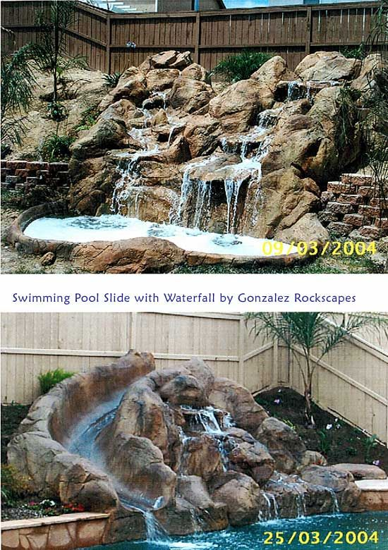 Pools With Slides And Waterfalls Backyard 30 best pool waterfall ideas images on pinterest | rock waterfall