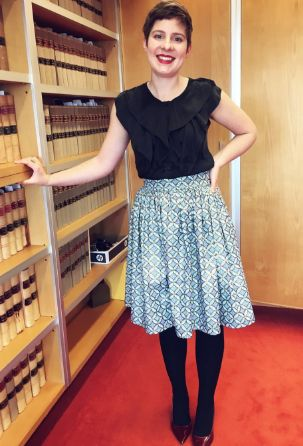 Rebecca's Clemence skirt - sewing pattern in Love at First Stitch