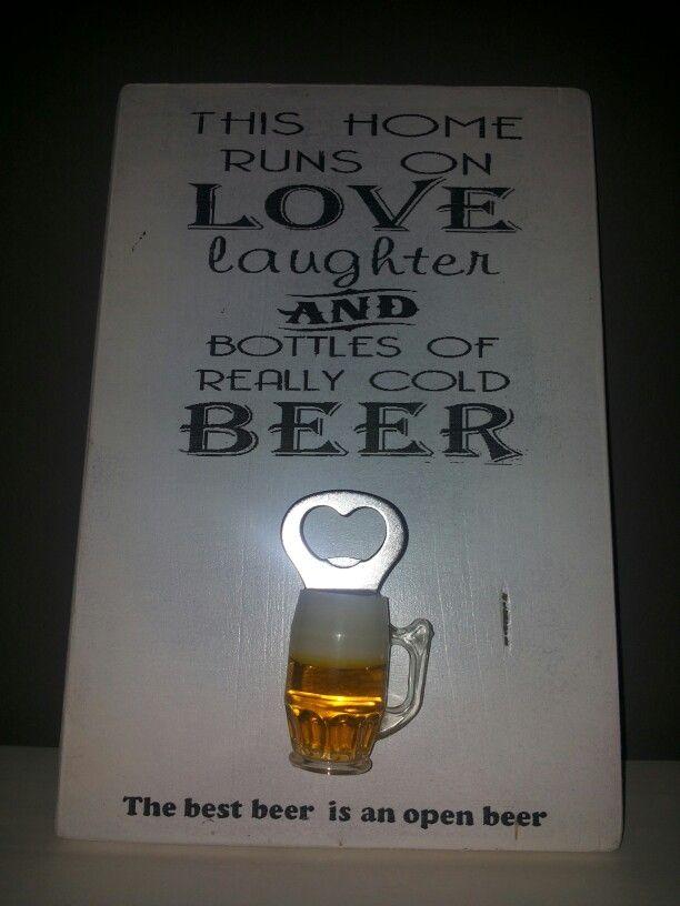 Bier tekst op hout.