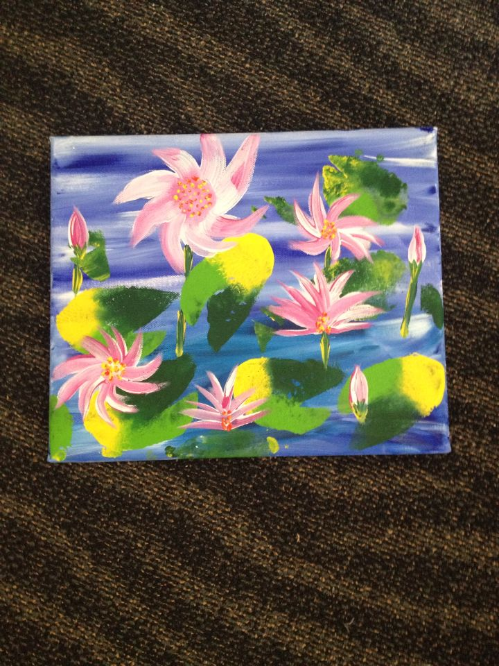 Art classes at Injune MPHS with Lyn May 2014.