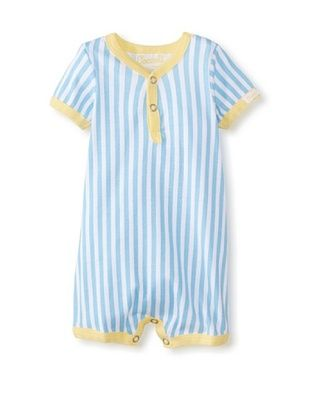 61% OFF Coccoli Baby Newborn Sunny Days Striped Romper (Ocean Blue Stripe)