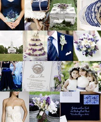 This helped me figure out my coordination of navy, lavender and sage green....my wedding color scheme!!