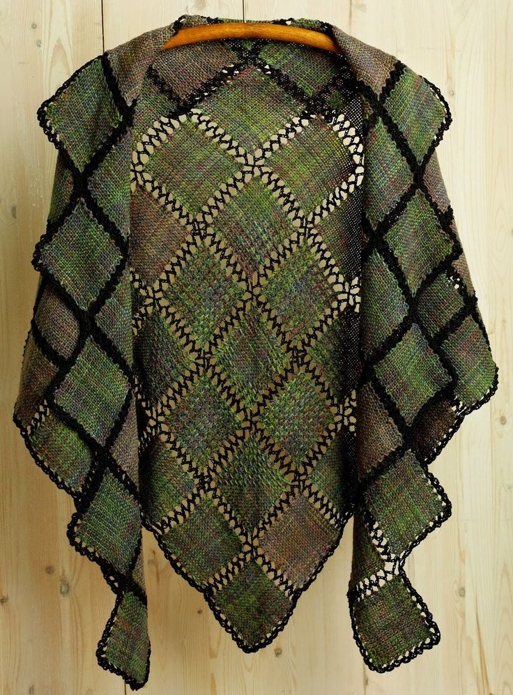 Pin Loom Weaving: John Mullarkey; weaver, teacher, artist, Zoom Loom creator - includes link to how to create this shawl.