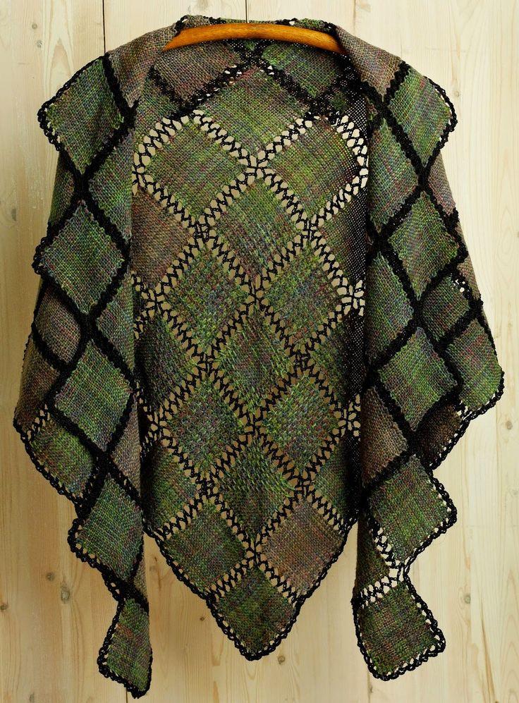 Pin Loom Weaving: John Mullarkey; weaver, teacher, artist, Zoom Loom creator - includes link to how to create this shawl.