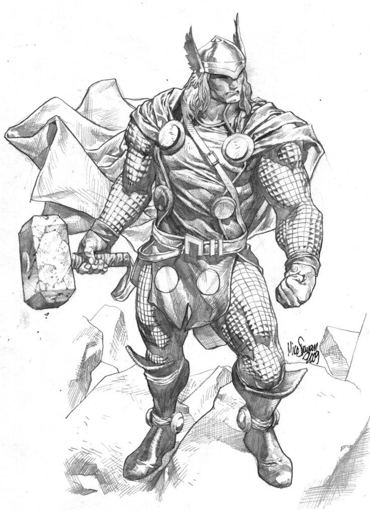 Thor sketch by MicoSuayan.deviantart.com on @deviantART