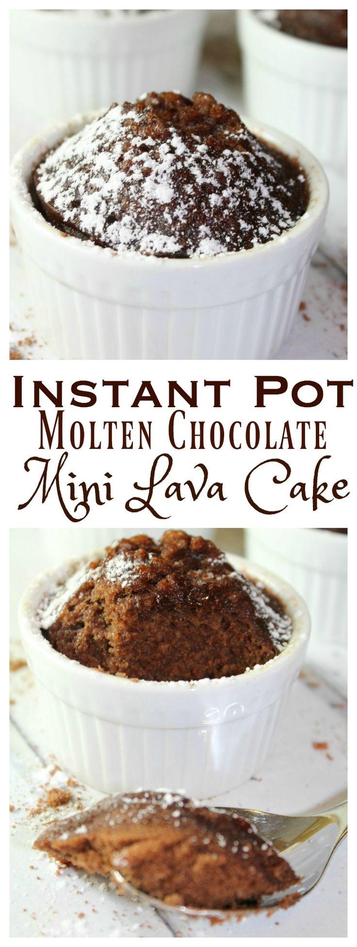Molten Chocolate Mini Lava Cake