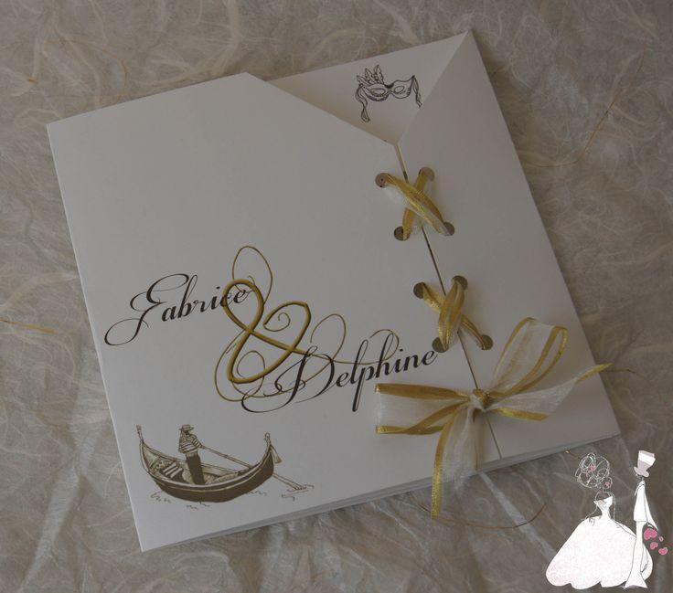 Faire part Mariage Venise Corset : Faire-part par mariageandcie