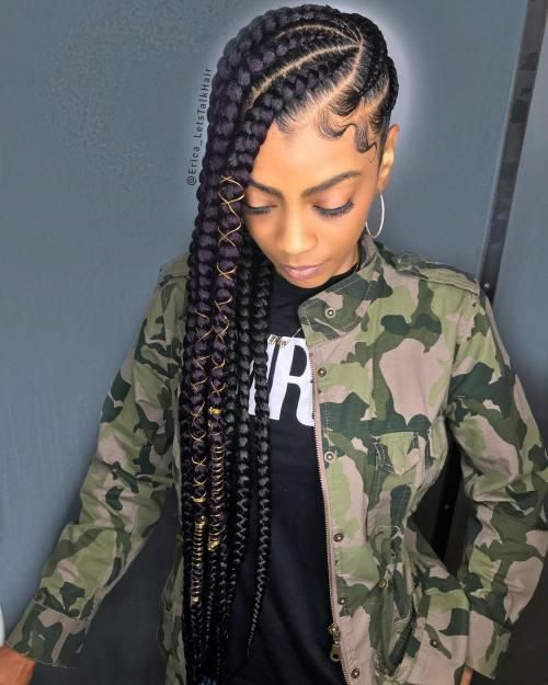 cute and creative cornrow braid