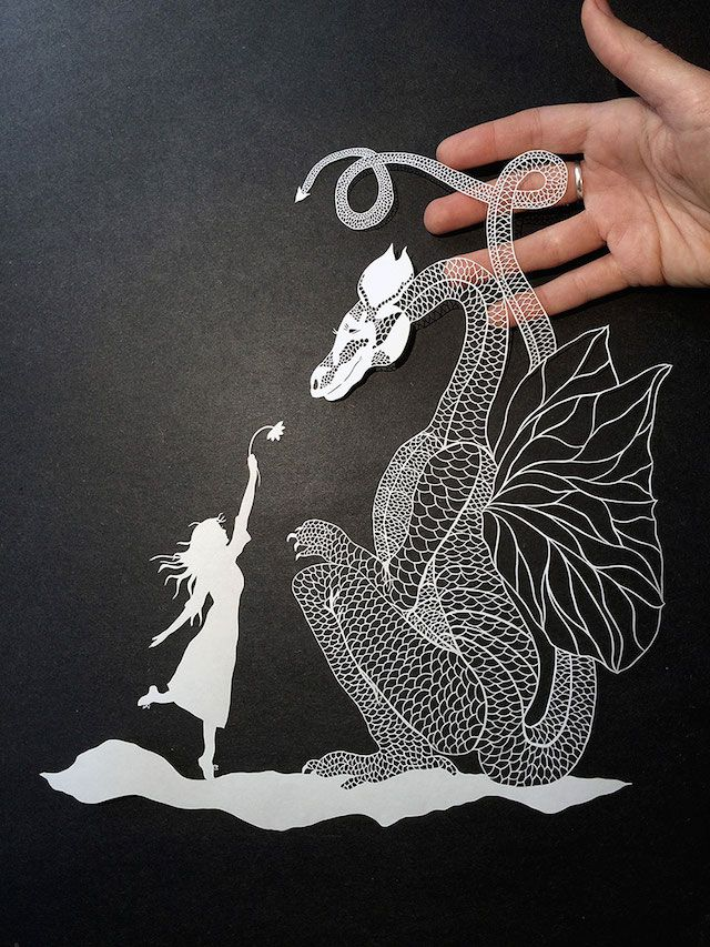 Extremely detailed paper (yes, paper) carvings by New York-based artist Maude White.