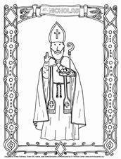 Download Pictures to Color at the Saint Nicholas center