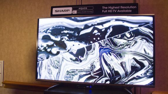 Hands on : Sharp Aquos Quattron Plus TV review | Sharp's latest TV innovation is a full HD TV that plays Ultra HD content, without the price of a 4K TV. Reviews | TechRadar