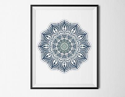 "Check out new work on my @Behance portfolio: ""New Moon Mandala"" http://on.be.net/1MRiPfv"